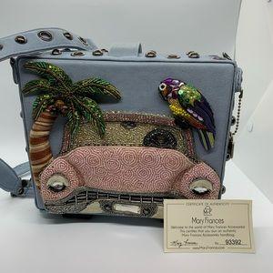 Vintage Mary Frances Box Purse Handbag Clutch